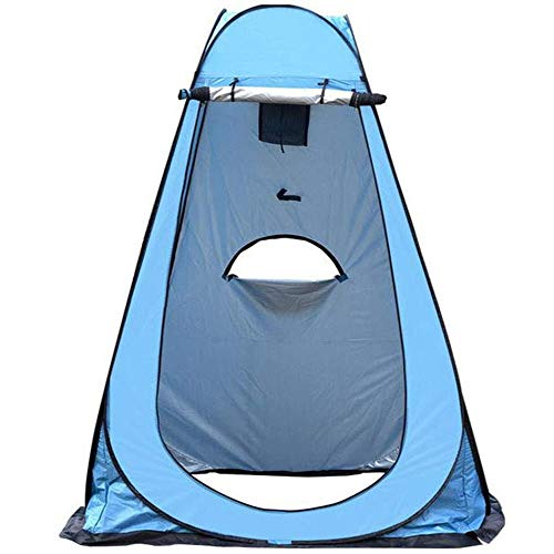 LLHAI Portable Privacy Tent, Pop Up Removable Outdoor Shower Tent Camp Toilet Rain Shelter, Easy Installed and Stable Awning Camp with Window,Blue,150 * 150 * 190cm