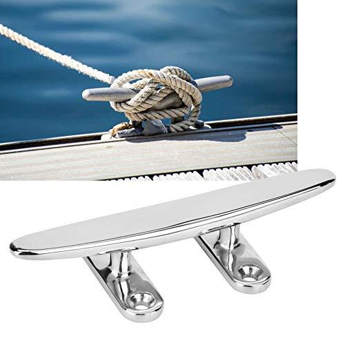 Basisplaat, roestvrijstalen basisplaat, spiegel gepolijst bootlicht Accessoire basisplaat, bestand tegen roest en corrosie, strak, glad en vloeiend oppervlak, geen schade aan het touw(8in)