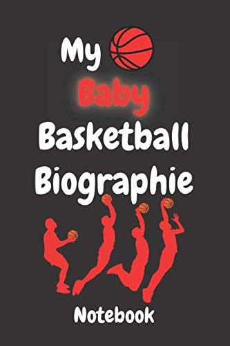 My Baby Basketball Biographies Composition notebook: Lined Composition notebook / Daily Journal Gift, 110 Pages, 6x9, Soft Cover, Matte Finish