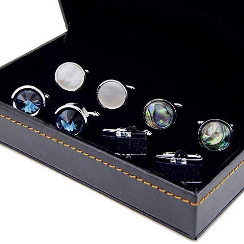 CHENGYYDP Cufflinks 4-Pair Gift Box