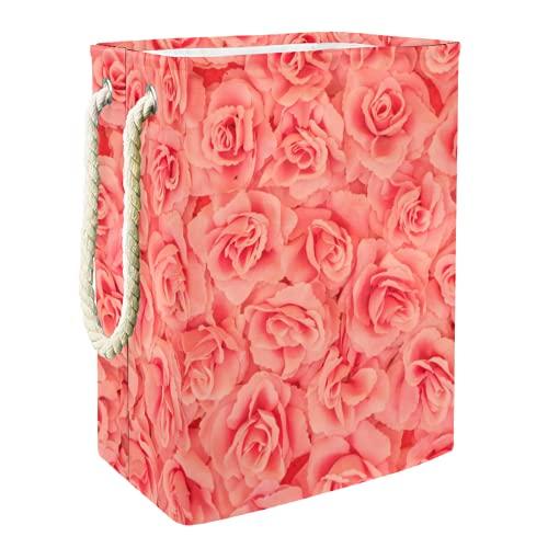 Cesta De Almacenamiento rosas Cesto De Ropa Plegable Para El Hogar Simple 49x30x40.5 cm