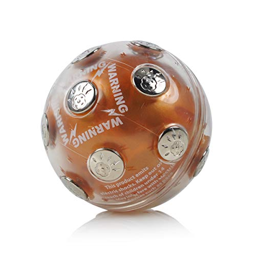 ThinkTop Shock Ball Hot Potato Game, Electric Shocking Game For Christmas, Adventure Funny Novelty Gift Fun Joking for Party, Brown