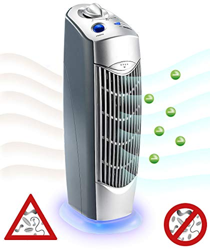 newgen medicals Elektro-Luftfilter: Professioneller 4in1-Luftreiniger mit Ionisator, für Räume bis 20 m² (Luftreiniger mit UV-Licht)