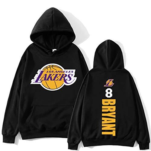 KJYAYA Herren Plain Fleece Hoodie Kobe Bryant Hooded Top Warmer Pullover Lässige Pullover Sweatshirt Jacke