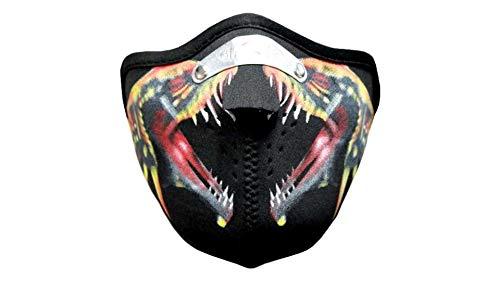 kenai dark Motorrad Neopren Maske Schlangen mit Feinstaubfilter, Biker Mask snakes, Winddicht Staubdicht