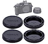 (2 Packs) JJC M43 Lens Rear Cap Camera Body Cap, MFT Rear Lense Protective Cap, Micro Four Thirds Dust Sensor Cover, Compatible with Olympus / Panasonic Lumix Micro 4/3 Mirrorless Camera