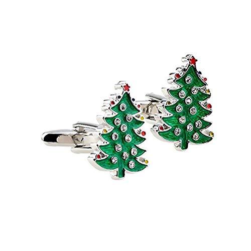 Nicetruc Árbol De Navidad Gemelos Gemelos De Aleación para Las Mujeres De Vestir De Hombre De Negocios De La Boda del Regalo De Cumpleaños Gemelos 1pair