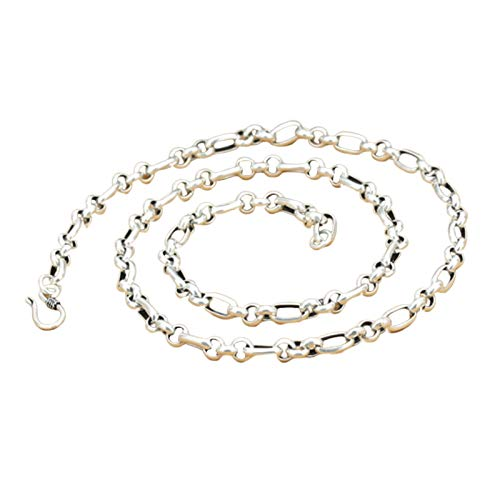 Daesar Collar de Plata Hombre 925 Plata Colar Ancho 4mm Cadena de Cable Collar 28 Inch