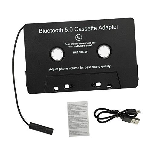 MERIGLARE Adattatore da Cassetta Bluetooth Ad Aux con Jack per Cuffie da 3,5 Mm Adattatore da Cassetta Wireless a Adattatore Aux Adattatore per Cassette per SMA