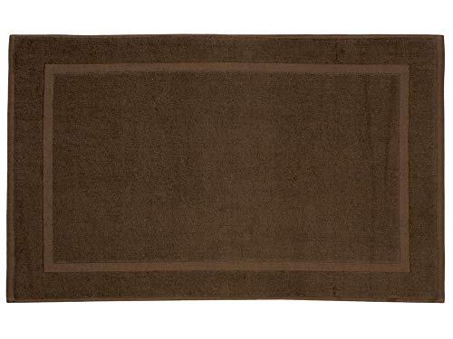REVITEX - Alfombra de baño Estela Marrón - Rizo 100% algodón - Absorbente - 50x70 cm