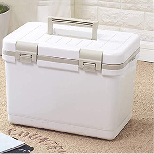 Bärbar kylskåpslåda, mini kylskåp elektrisk kylare och varmare, isolering lådkylare, isbitkylskåp för utomhusbil-blå 24x30x40cm (9x12x16 tum)