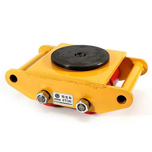 OUKANING - Bandeja de transporte con disco de ruedas y herramientas de mudanza, bandeja de transporte para coche