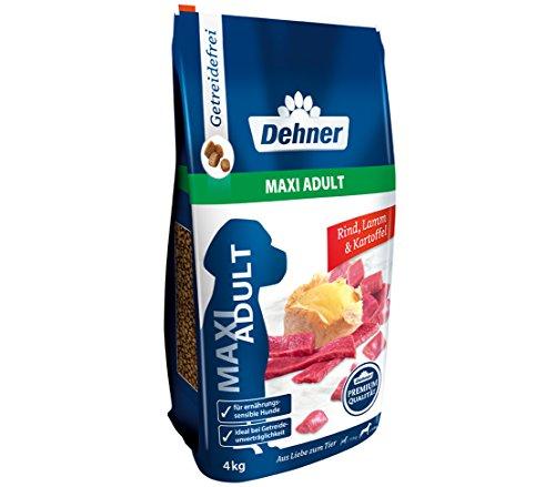 Dehner Premium hondendroog voer Maxi volwassenen, runds- en lam met aardappel, 4 kg