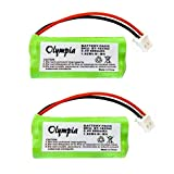 2 Pack Replacement Battery for Uniden DWX337 Cordless Phone (800mAh, 2.4V, NI-MH)