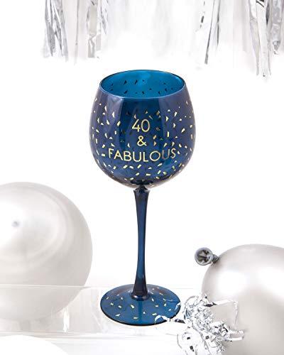 Boxer Gifts GWO740 Verre à vin pour 40e anniversaire   Belle verrerie de fête   Cadeau