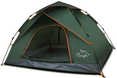Toogh 3-4 Person Camping Tent 60 Seconds Set Up Tent...