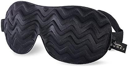 Bucky Ultralight Chevron Eye Mask, Black, 1 Count (Pack of 1)