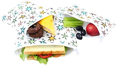 Langsprit Premium Reusable Sandwich Snack Bags Washable Lunch Bags Set of 3 Star product image