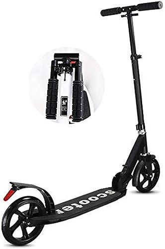 SCOOTERYW Erwachsene Roller auf zWeiß rn Falten auf zWeiß rn City Work Travel Tool Campus City Aluminium Riesenrad Roller nicht elektrisch (Farbe   Black)