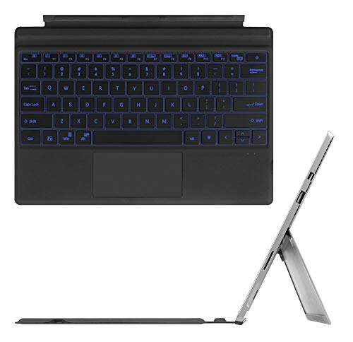 Keyboard Replacement Type Cover Trackpad Mouse for Microsoft Surface Pro 7/6 / 5/4 / 3 Ergonomic Portable Slim Wireless Bluetooth Rechargeable (with Backlit)