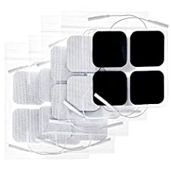 High Quality. The TENS unit pads use adhesives made in USA, which can provide excellent self-adhesive performance and easy clean up for maximum 45 uses. In addition, these electrodes are latex-free and non-irritating, ensuring users of most skin type...