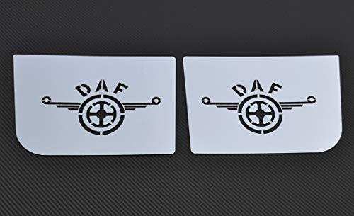 24/7Auto, 2x hochglanzpolierte Innenstufen, Edelstahlplatten mit Logo für XF 95/105, Dekorationen