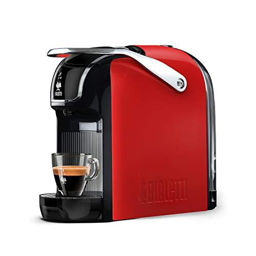 Bialetti Break Espressomaschine mit Kapseln, aus Aluminium, kompaktes Design, Rot