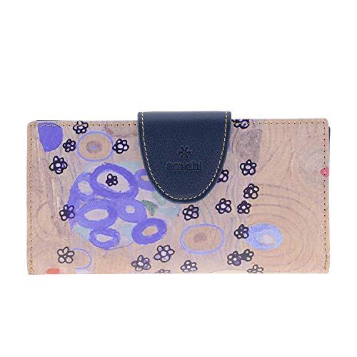 Amichi Billetero Monedero Colección Klimt para Mujer Talla: U Color: AZUL