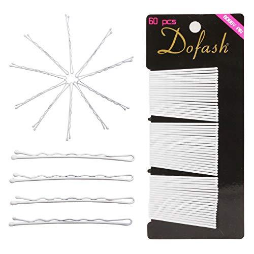 Dofash 60 Stück 2IN/5CM Wellenform Bobby Pins Weiß Haarklammern Haarnadeln Klassische Haarzusätze für Damen Mädchen Dicke Haare (Weiß)