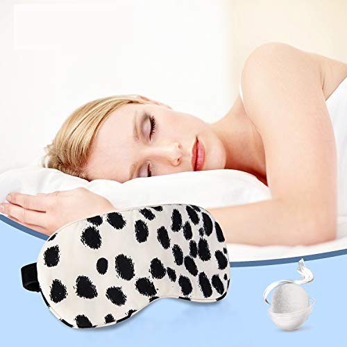 Schlafmaske Augenmaske Seide Damen und Herren-Verstellbares Elastikband natürlich Augenbinde bequeme und weiche Schlafbrille Atmungsaktiv Allgiker geeignet,Leopard-Druck von COLD POSH