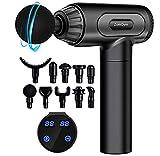 Massage Gun Deep Tissue Percussion Muscle Massager, 30 Speeds Quiet Handheld Massager for Muscle...