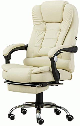 Cozy Executive Recline Computer Desk Racing Chair Computer Chair PU with 70cm High Back Large Seat and Tilt Function Ultimate Recliner Bearing weight 150kg,