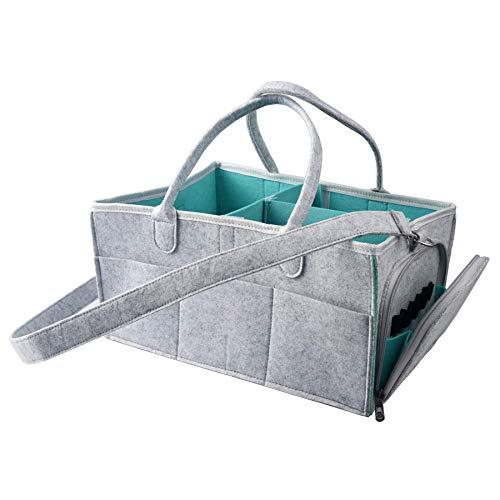 Caddy Organizer Basket Nursery Storage Bin for Changing Table Car with Adjustable Shoulder Strap