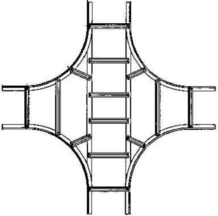 Niedax Kreuz-Stück KLK 100.203 F KL;KLL Kreuzstück für Kabelleiter 4013339904402