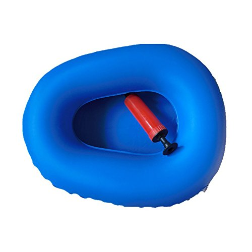 KIKIGOAL Washable Portable Air Inflation Blue Bed Pan