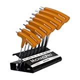 Get MichaelPro MP001044 8-Piece Two-Way T-Handle Ball End Allen Wrench Set, Hex Keys Set with Convenient Storage Stand (Metric) Just for $44.64