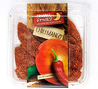 Nutty & Fruity Dried Mango, Dried Chili Mango or Chipotle Seasoned Dried Mango Slices- Two Packages (Chili Mango 9 oz.)
