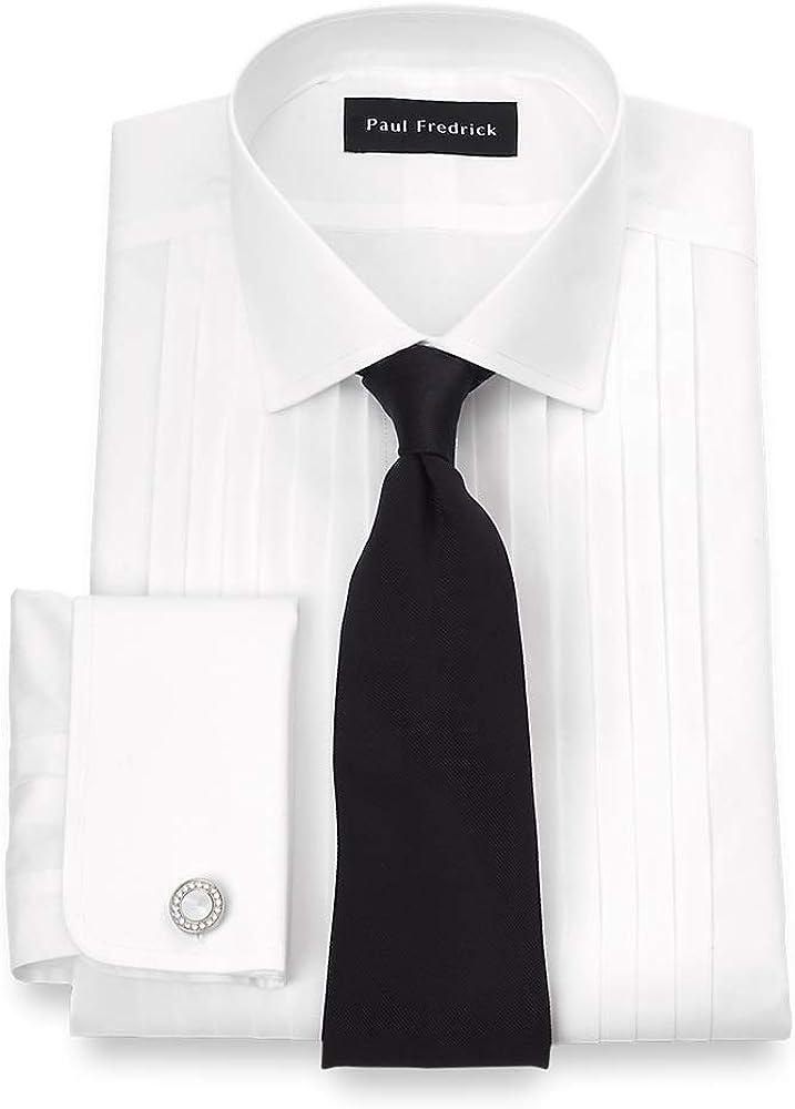 Paul Fredrick Men's Non-Iron Impeccable 12-Pleat Tuxedo Dress Shirt