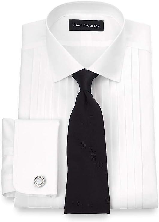 1920s Men's Evening Wear History: Tuxedos to Tailcoats Paul Fredrick Mens Non-Iron Impeccable 12-Pleat Tuxedo Dress Shirt  AT vintagedancer.com