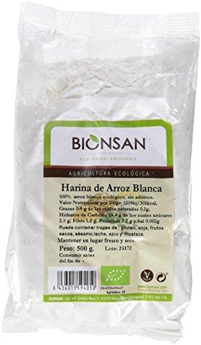 Bionsan Harina de Arroz Blanca - 4 Bolsas de 500 gr - Total: