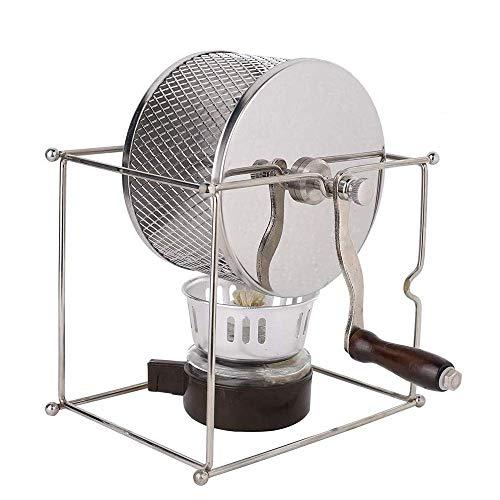 CLQ Kaffeeröster, Mini-Röstmaschine Kaffeebohnen DIY Edelstahl Manuelle Espressorollen Mit Griff Für Erdnusskastanienbohnen