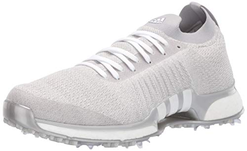 adidas Men's TOUR360 XT Primeknit Golf Shoe, Grey Two/White/Silver Metallic