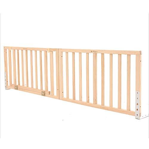 HUO lite drewno płot barierka barierka dla dzieci barek odporna na pękanie płot king size łóżko 1,2-2,2 m osłona (wysokość 55 cm) (rozmiar: 1,9 m)