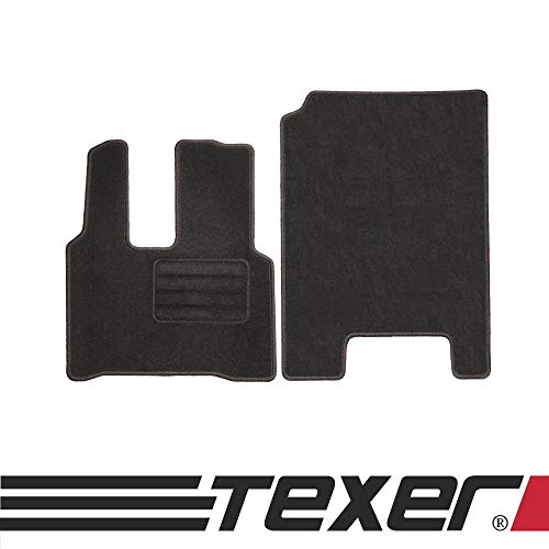 CARMAT TEXER Textil Fußmatten Passend für Mercedes-Benz Actros MP 4 (rechts Links) Bj. 2011- Basic