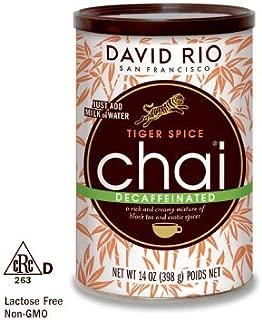 David Rio Decaf Tiger Spice Chai,14 oz-2 cans