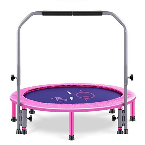 Children's trampoline Entrenamiento De Los Sentidos Plegables para NiñOs - Cama EláStica Cubierta Gimnasio En Casa PéRdida De Peso - Gimnasio FíSico - Mini Cama EláStica - Rosa Amarilla