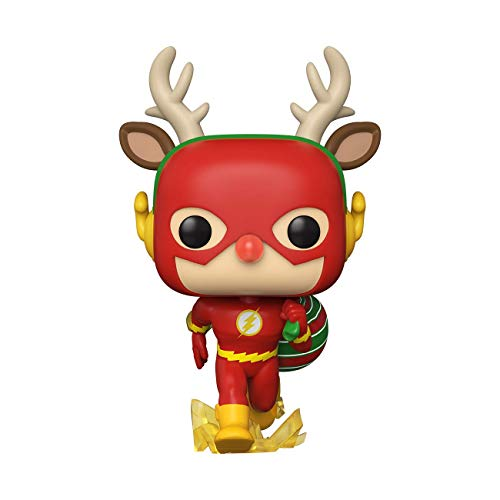 Funko- Pop Heroes: DC Holiday-Rudolph Flash Comics Holidays S1 Figura Coleccionable, Multicolor (50654)