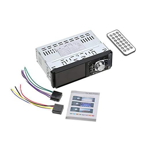 4012B 4.1 inch 1 Din MP5-speler Autoradio Auto Audio Stereo FM 2.0 Zwart met camera