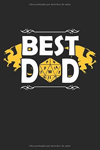 Best Dad: Libreta de regalos Dad Gamer RPG forrada (formato A5, 15,24 x 22,86 cm, 120 páginas)