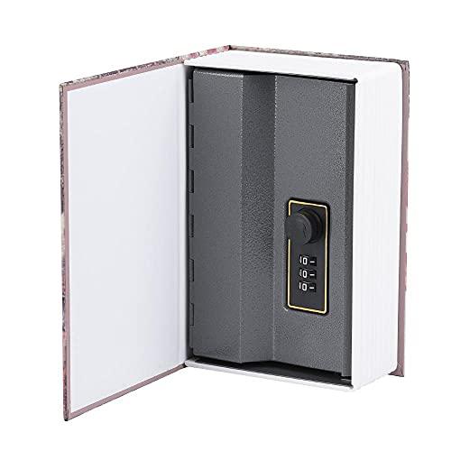 WQTR Hucha 18x11.8x5.5cm Caja de Almacenamiento de recolección de joyería de Caja de Caja de Caja Segura de Libros creativos con Caja de Bloqueo de Almacenamiento de Bloqueo de combinación Banco